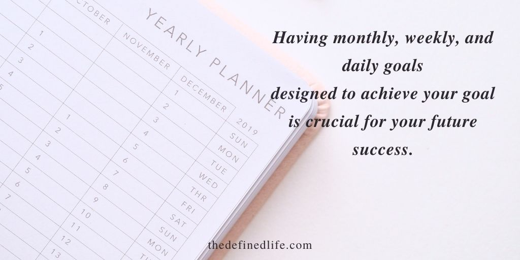 Stay consistent to your plans