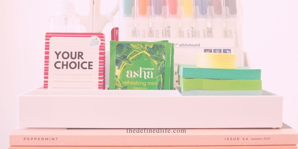 stay organized by decluttering