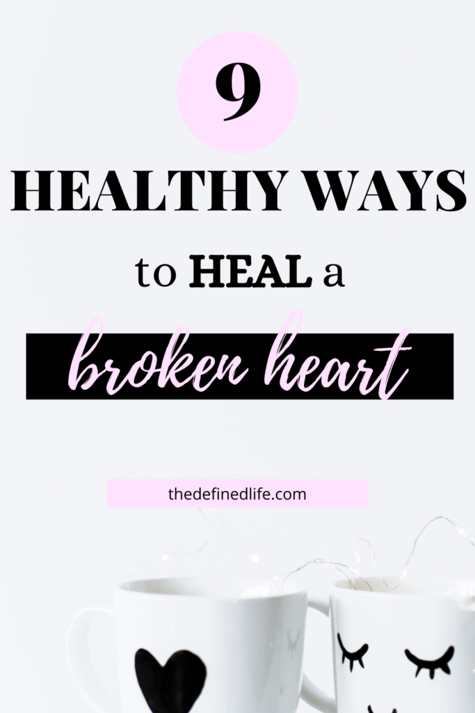 Recovery from a broken heart is never easy but there are healthy ways to cope. Do this tips to move on. #how to heal a broken heart #broken heart #moving on #heal broken heart.