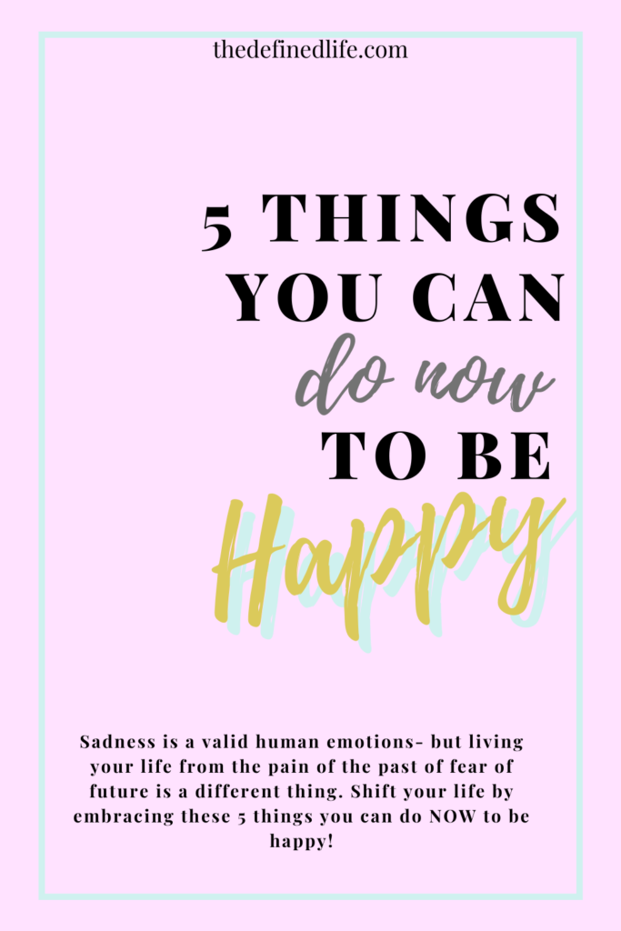 It is important to know what makes you happy. We have a choice to be happy now and believe it or not, we have control by understanding ourselves and our emotions. Learn more from this blog post.
