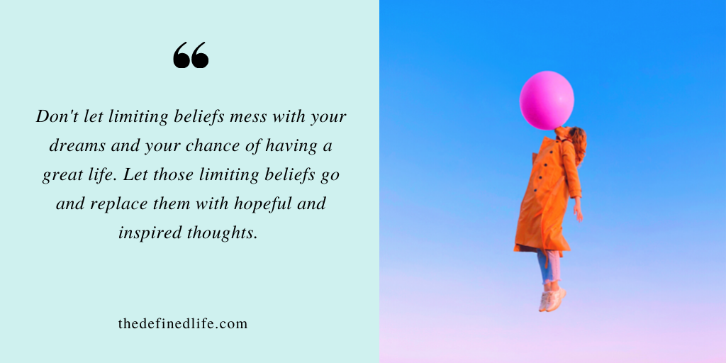 How to let go of limiting beliefs          (With free limiting beliefs worksheet)
