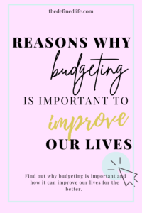 Our finances take up so much of our time and energy. It is not a surprise that an organized finances will give us peace. Learn how to use budgeting to improve an important part of your life here.
